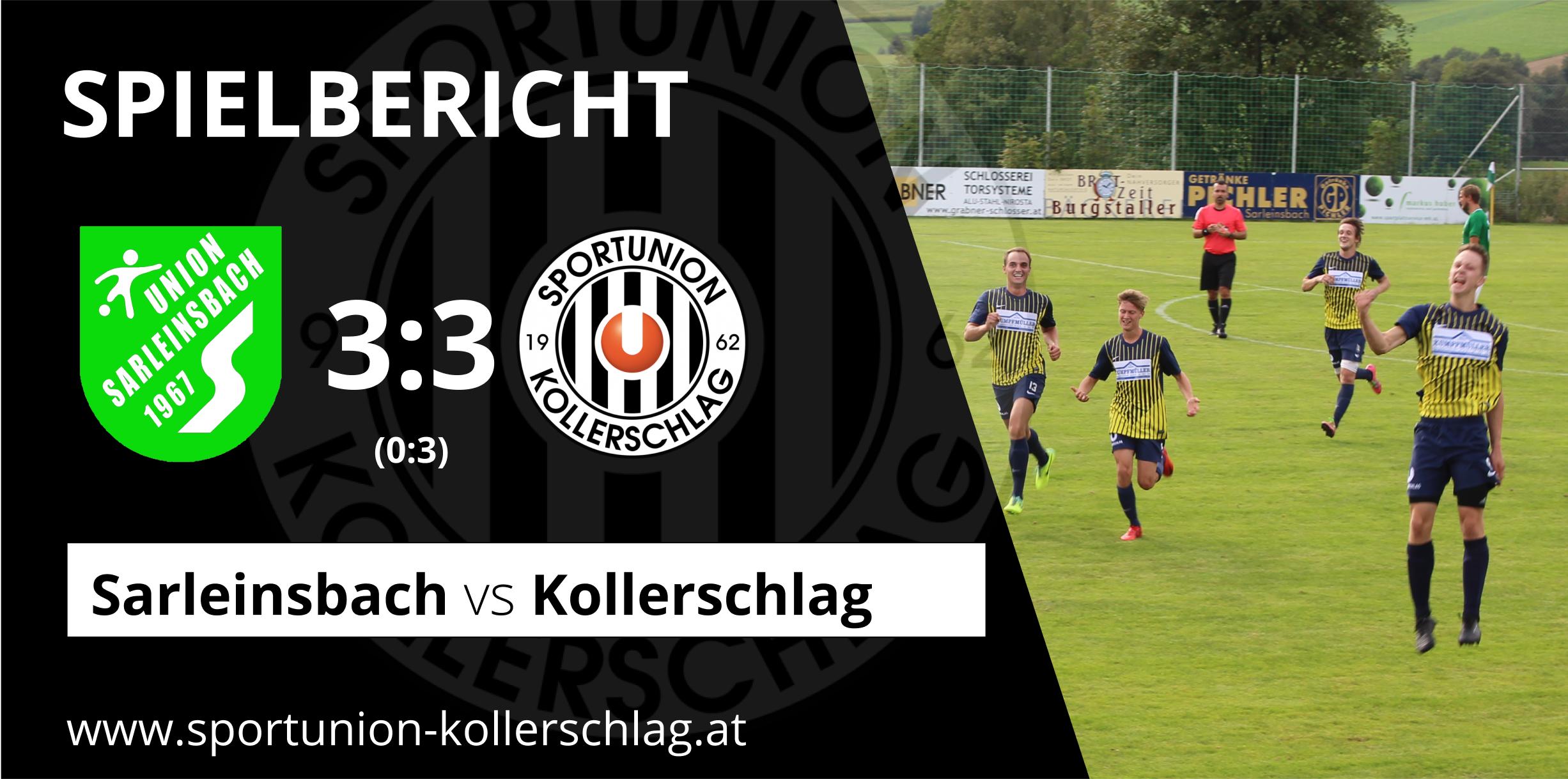 Das Lokalderby gegen Sarleinsbach endet 3:3 Unentschieden