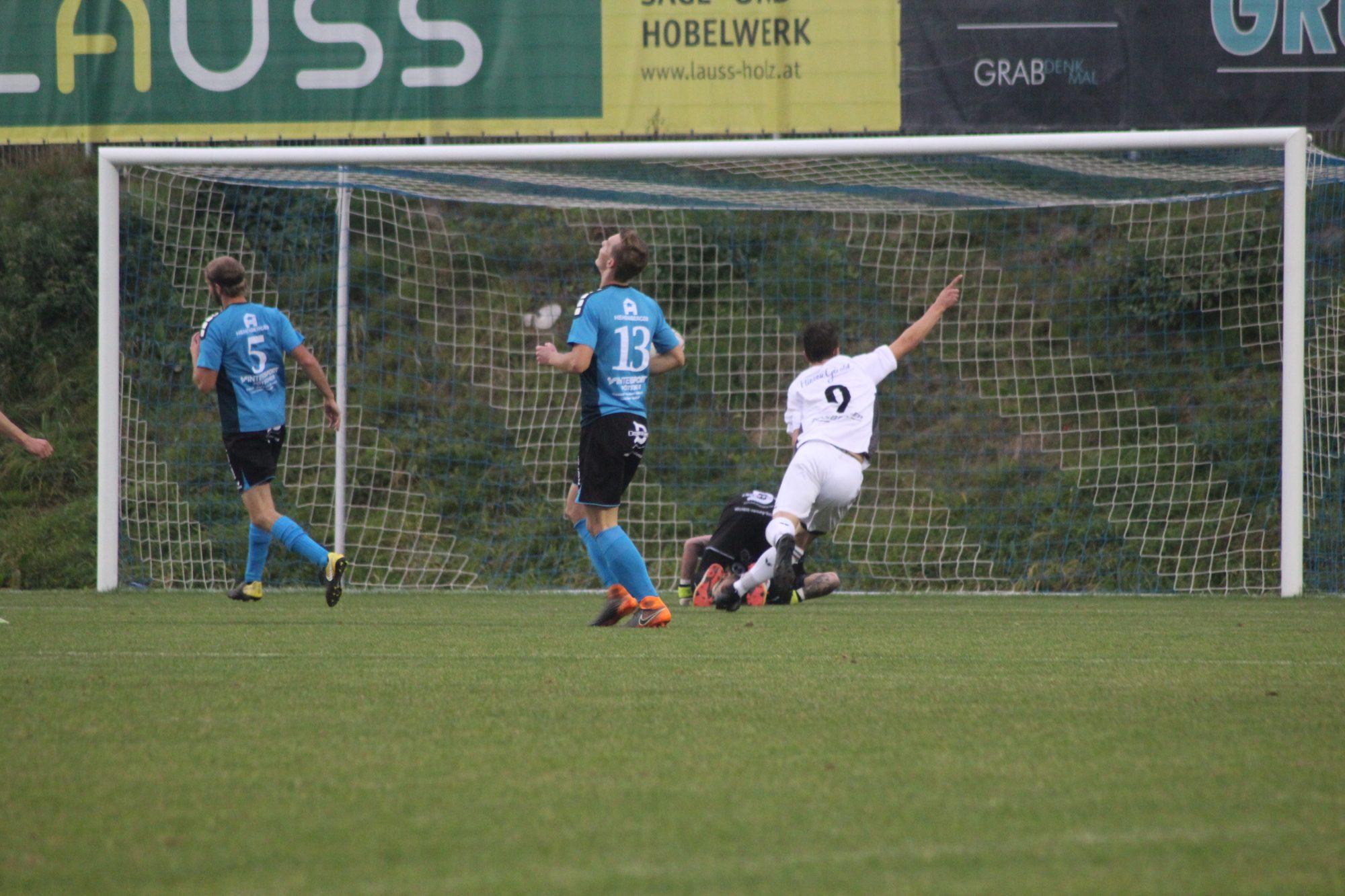 In der 32. Minute stellt Mathias Gabriel gekonnt auf 1:0