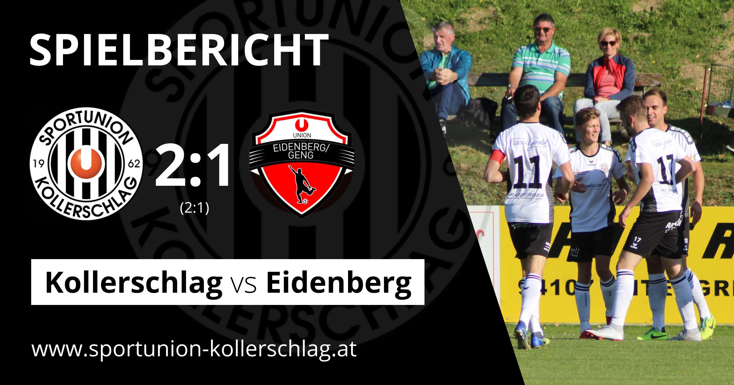2:1 Heimerfolg gegen Eidenberg/Geng