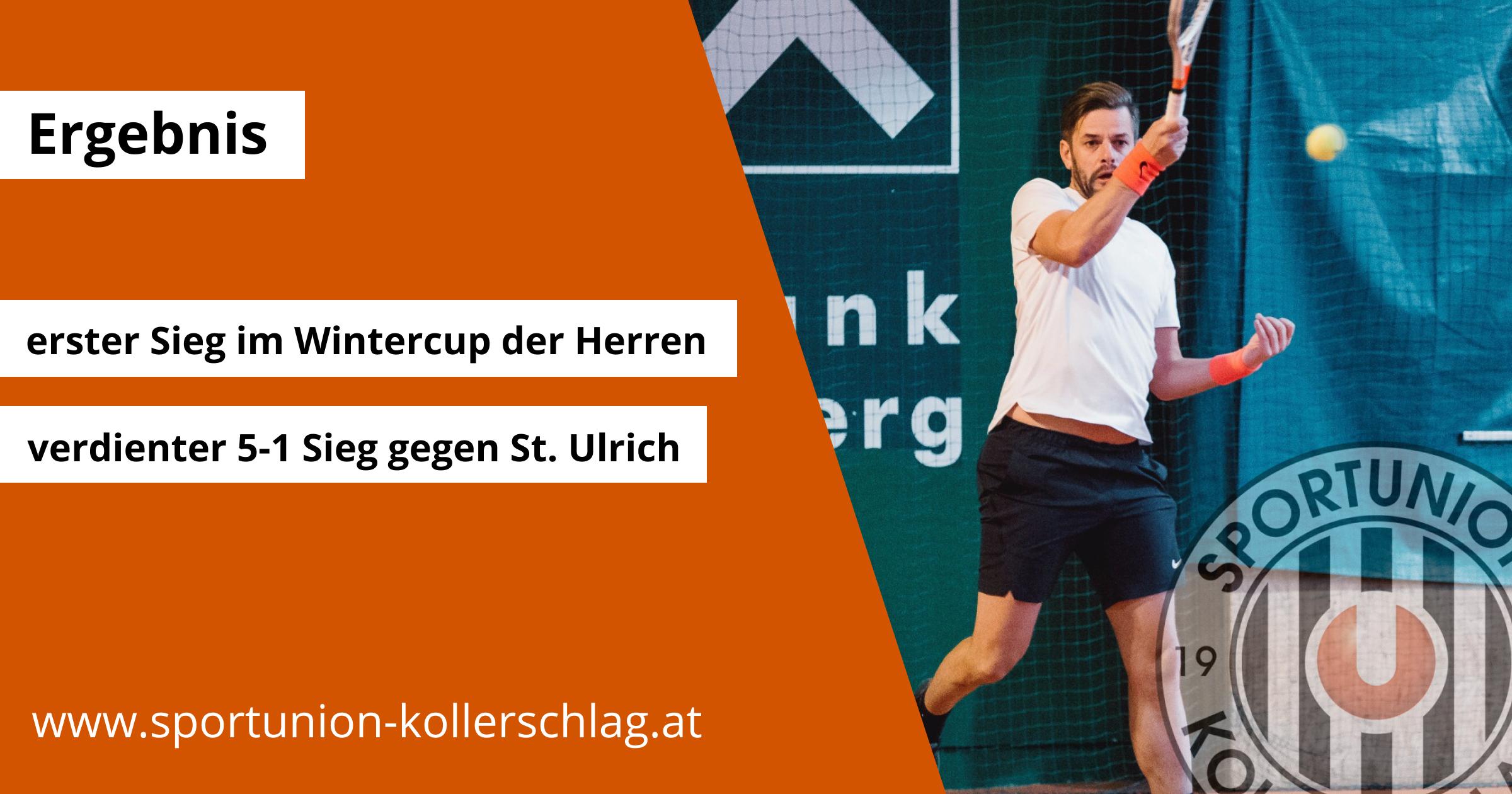 Erste Sieg unserer Tennis Herren im Wintercup