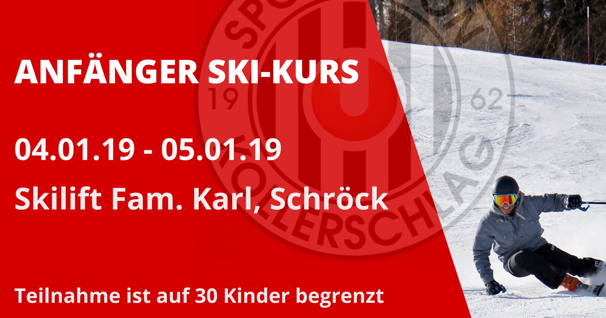 Anfänger Ski-Kurs am 04. und 05. Jänner 2019