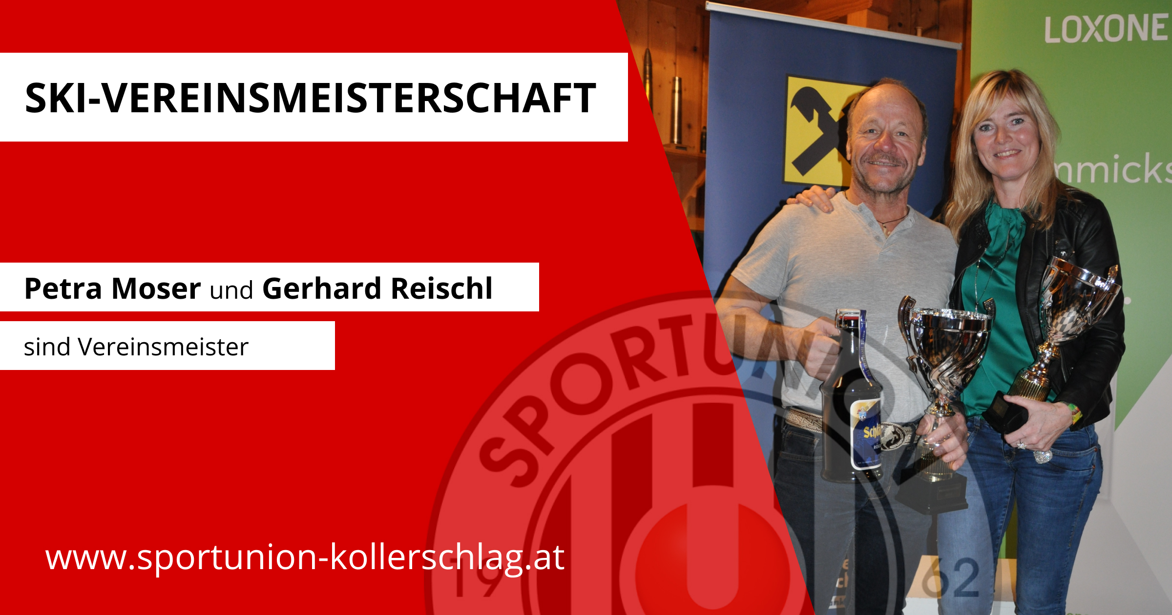 Petra Moser und Gerhard Reischl sind Vereinsmeister