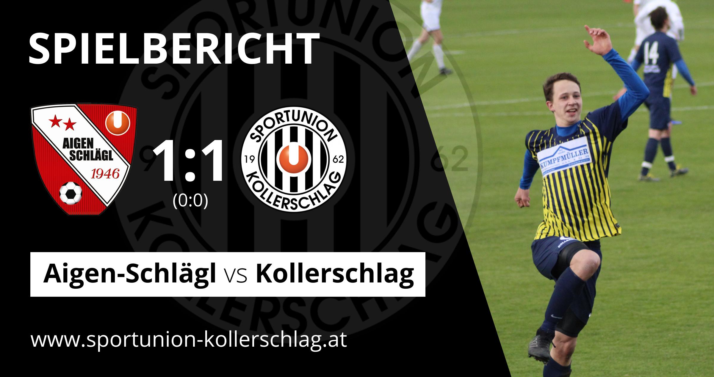 Last-Minute-Ausgleich! 1:1 Unentschieden gegen Aigen-Schlägl