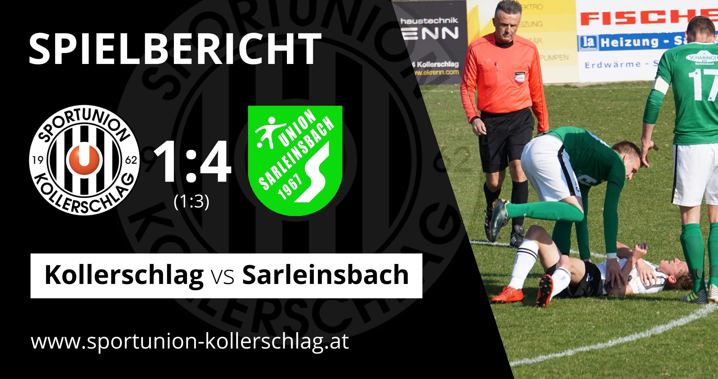 Heimniederlage im Lokalderby! 1:4 gegen Sarleinsbach