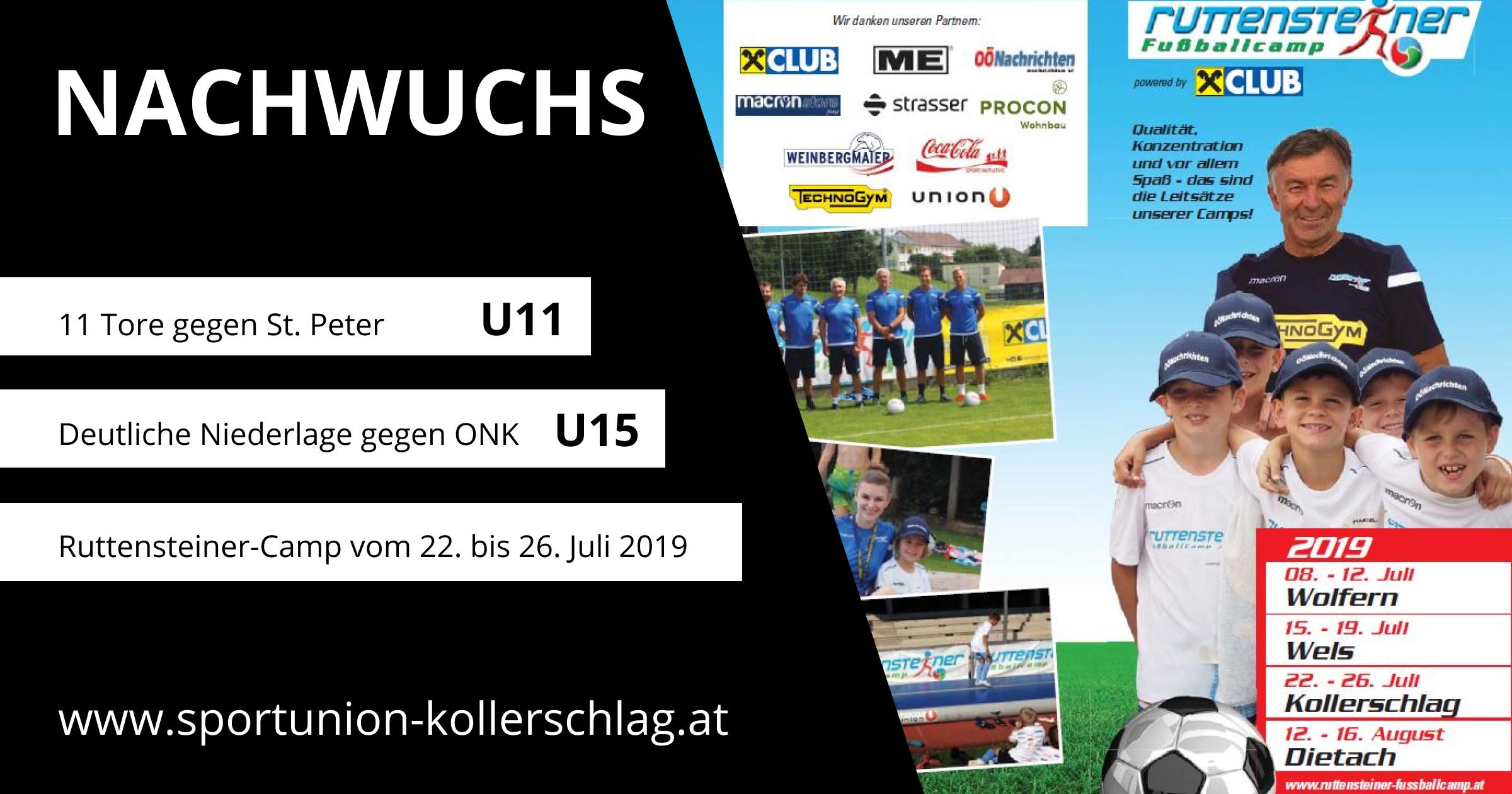 Willi Ruttensteiner Fußball-Camp vom 22. bis 26. Juli 2019