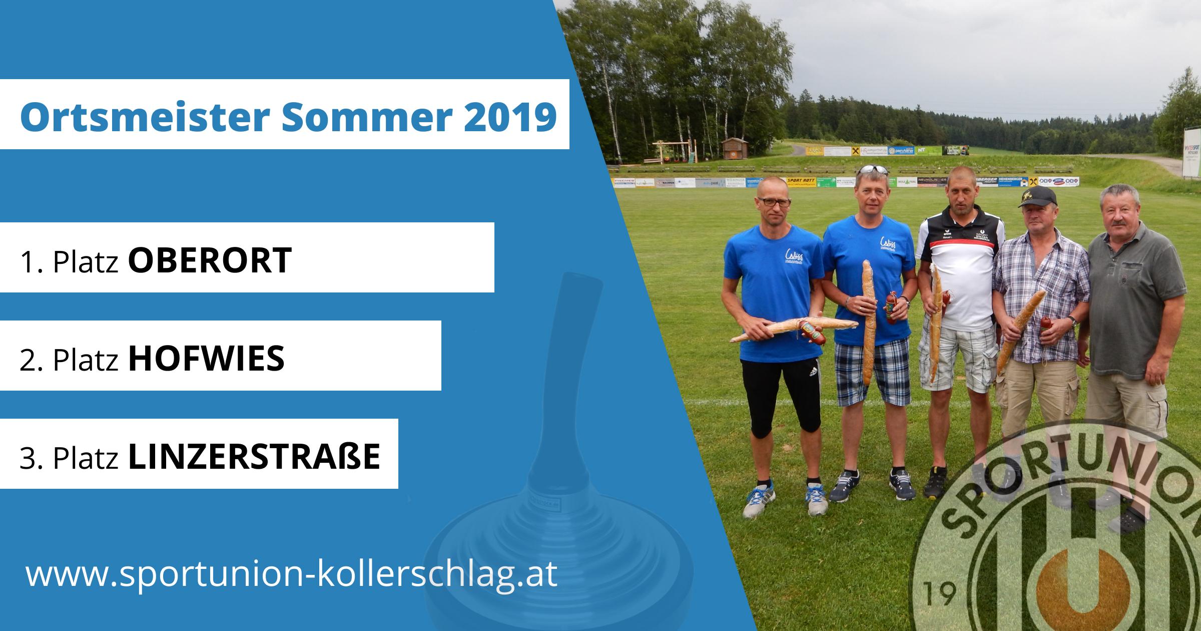 Ortsmeisterschaft Sommer 2019