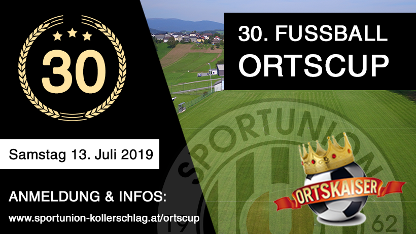 Fußball Ortscup 2019 Coverbild