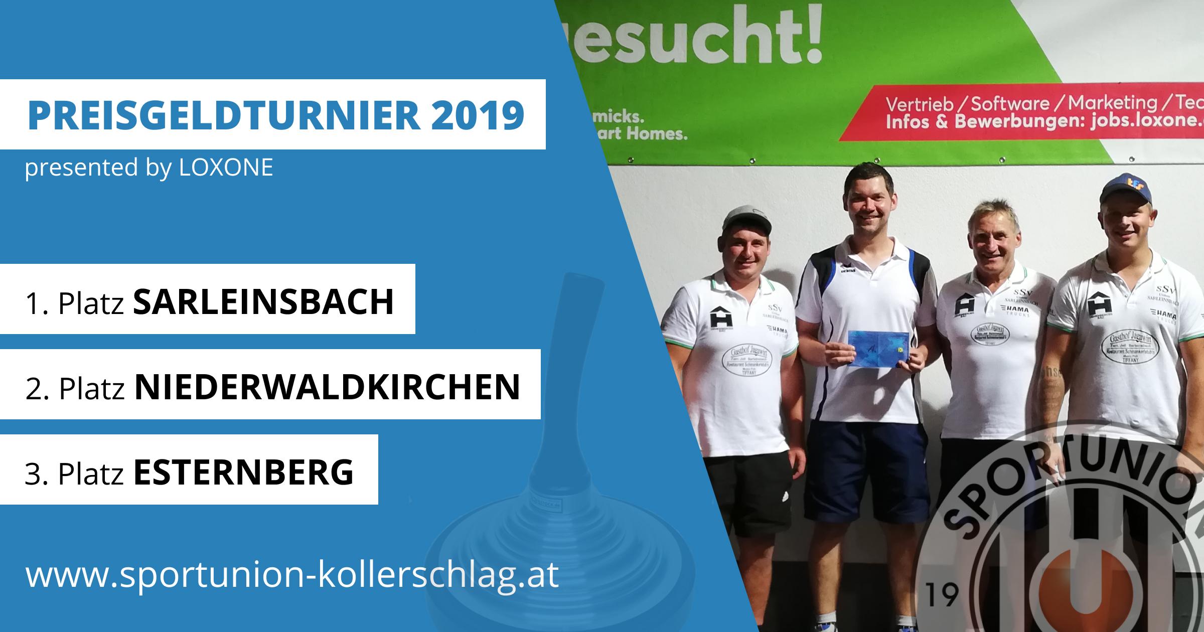 SSV Sarleinsbach gewinnt das LOXONE Preisgeldturnier 2019