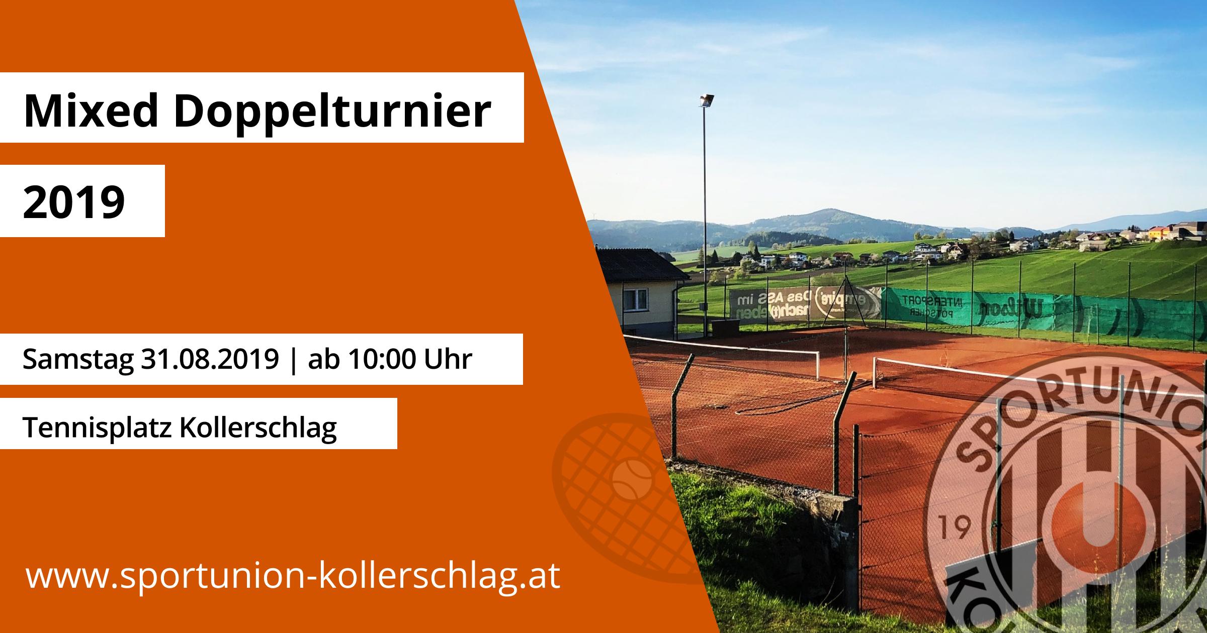 Am 31. August 2019 findest das Tennis Mixed-Doppelturnier statt