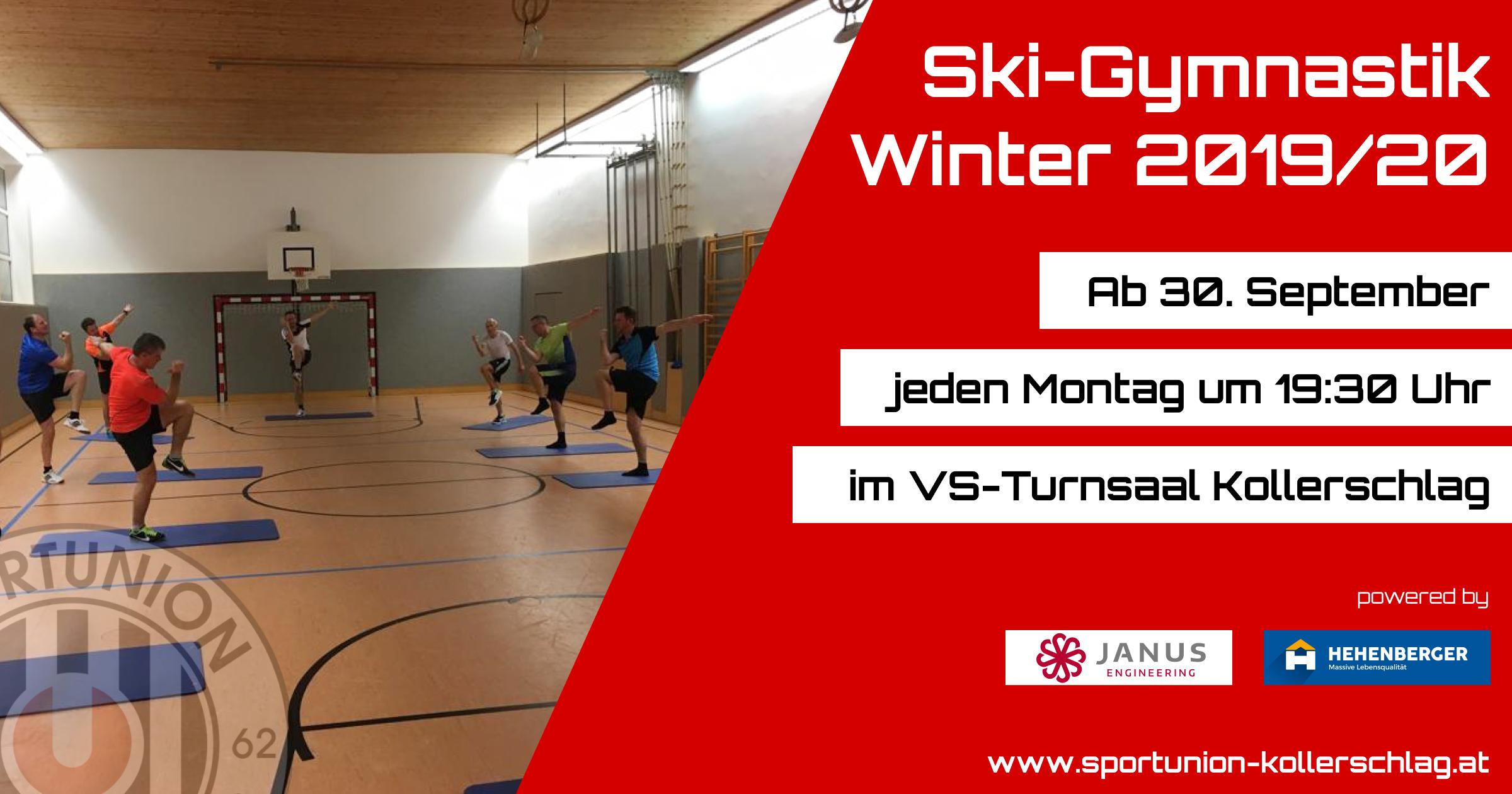 Die Ski-Gymnastik beginnt am 30. September