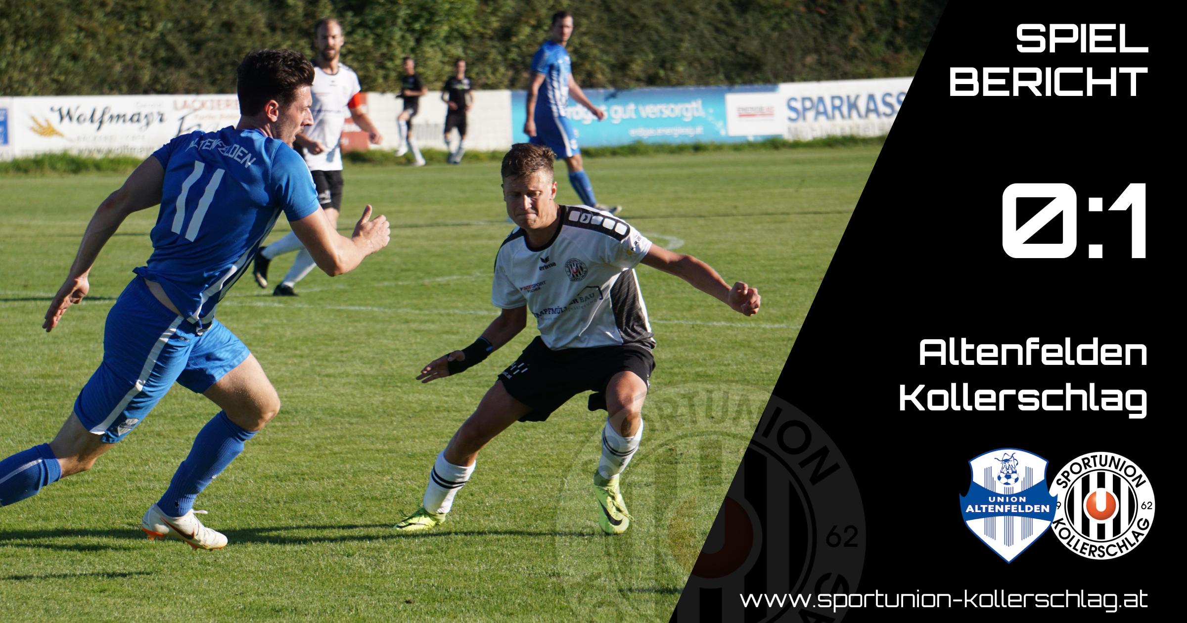 Goldtorschütze Manuel Ecker sichert unserer Mannschaft 3 wichtige Punkte in Altenfelden