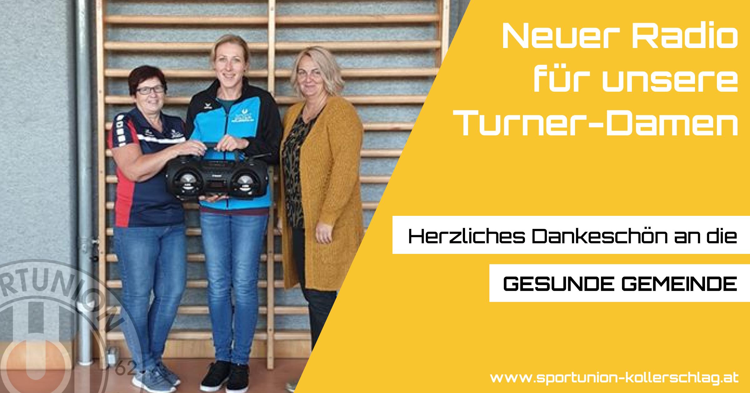 Neuer Radio für unsere Turner-Damen