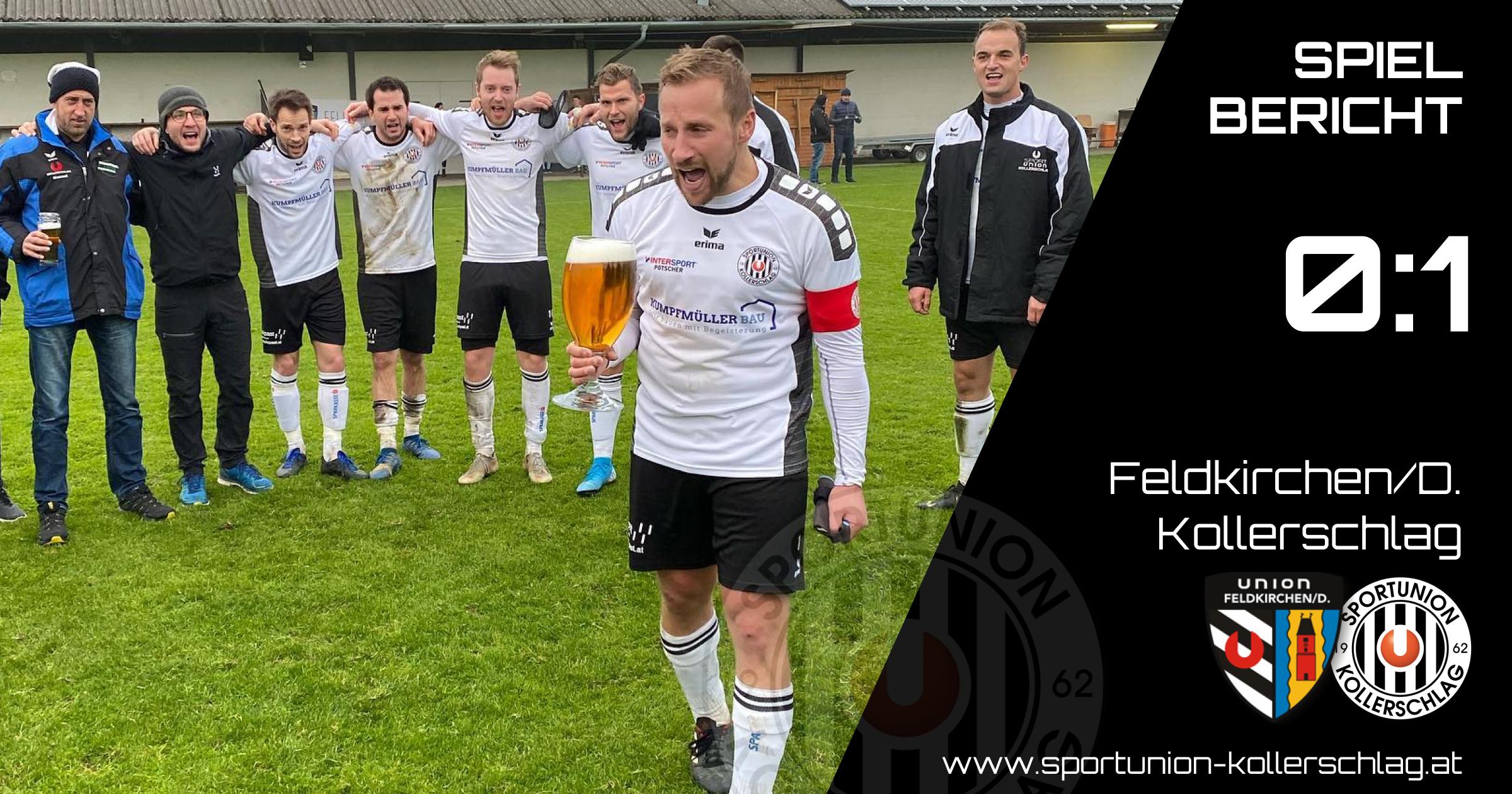 Wichtiger 1:0 Erfolg in Feldkirchen/D.