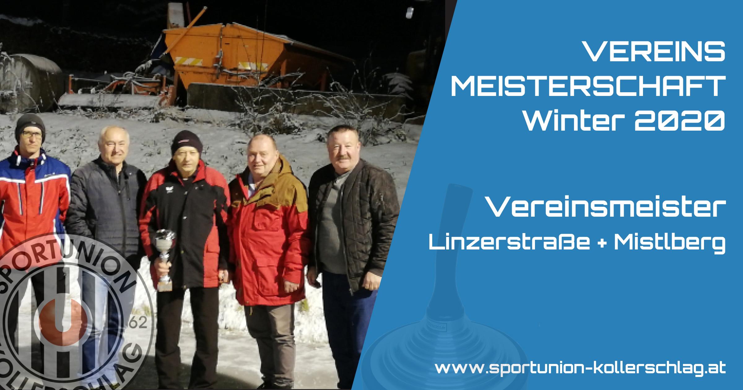 Vereinsmeisterschaft Winter 2020